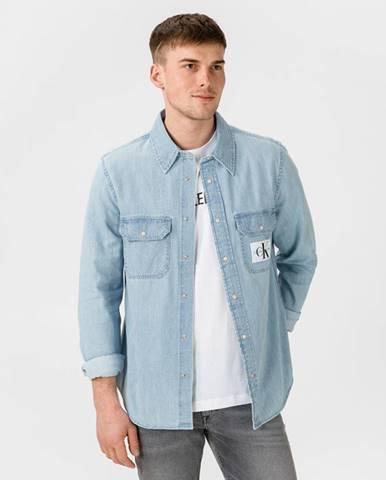 Modrá košeľa Calvin Klein