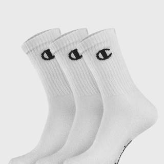 3 pack vysokých bielych ponožiek