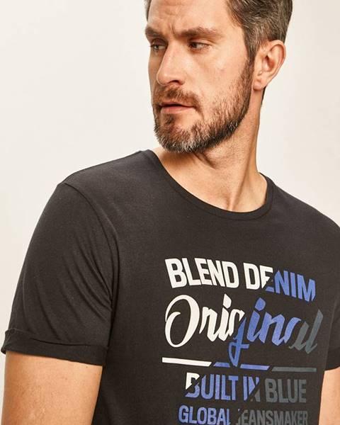 Tmavomodré tričko Blend