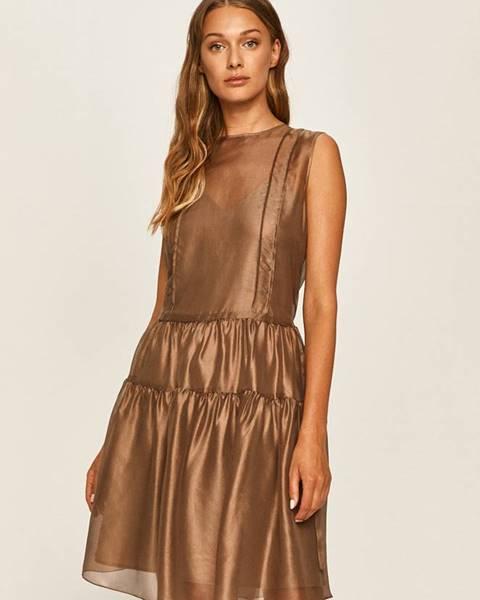 Hnedé šaty MAX&Co.
