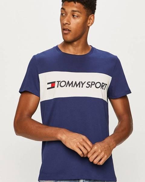 Tmavomodré tričko Tommy Sport