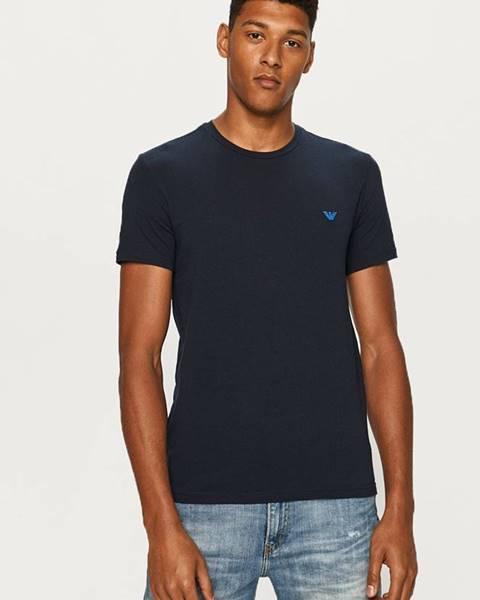 Tmavomodré tričko Emporio Armani