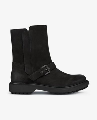 Čierne členková obuv Geox