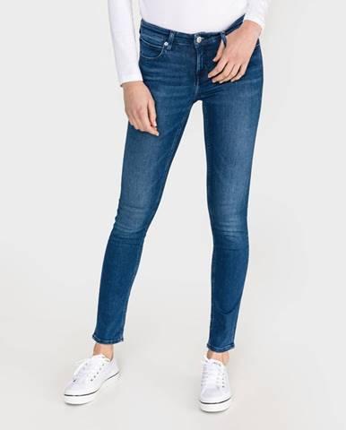 Modré skinny nohavice Calvin Klein
