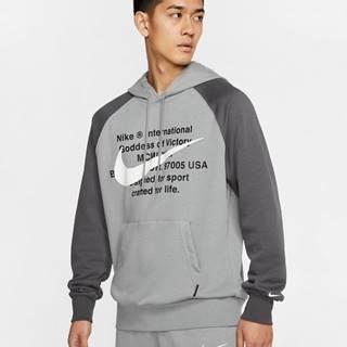 Nike Sportswear Swoosh Mikina Šedá