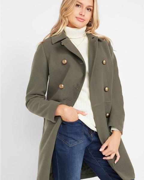 Zelený kabát bonprix