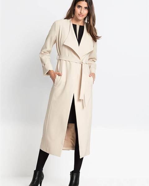 Béžový kabát bonprix