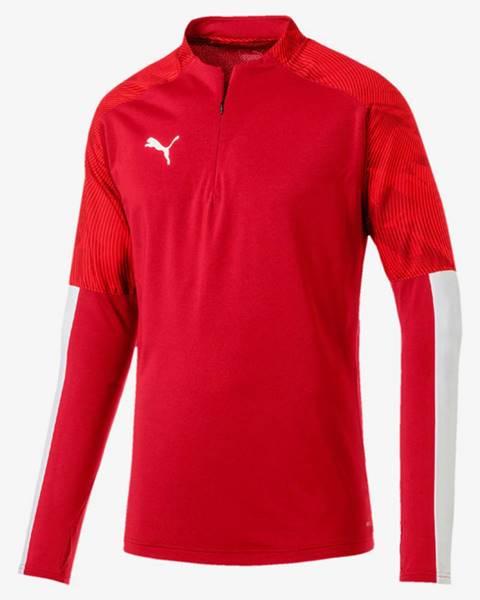 Červená bunda s potlačou Puma