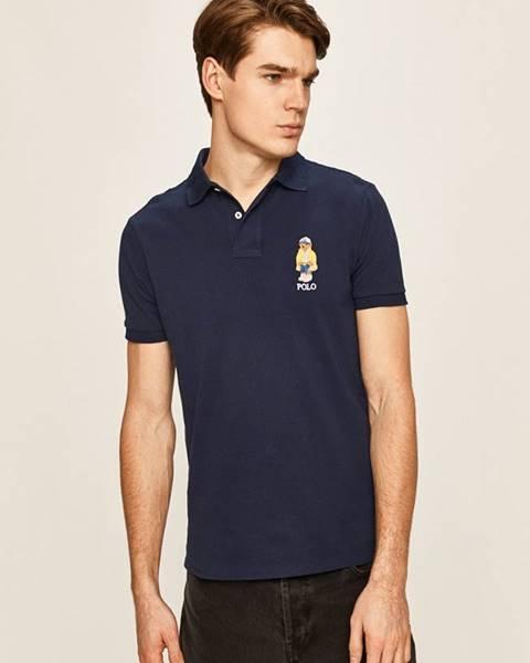 Tmavomodré tričko Polo Ralph Lauren