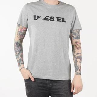 Tričko Diesel T-Diego-Brok Maglietta Šedá